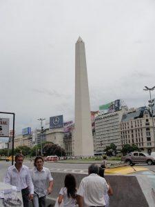 A híres Obelisco Buenos Airesben