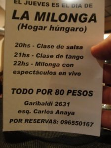 argentin tangóest milonga uruguayban a magyar házban
