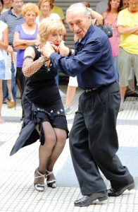 Senior Couple Street Dancing