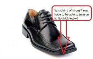 instead of tango shoes