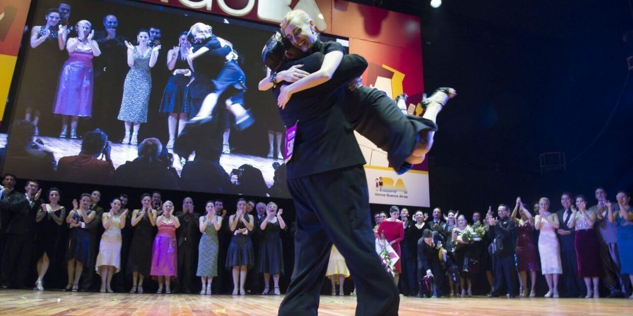 Tango de Pista category winners at the 2016 mundials
