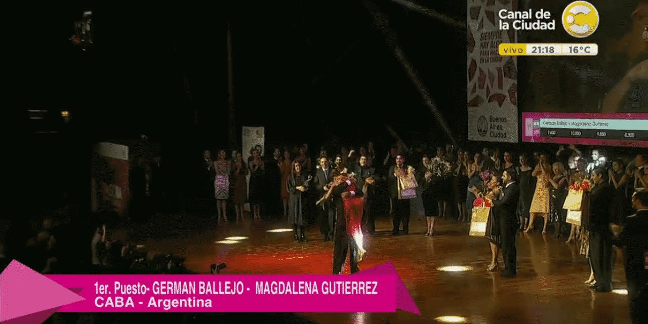 Salieron los campeones del mundial del tango de pista del 2017.