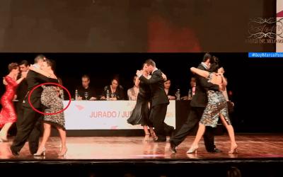 Una mujer embarazada casi ganó el mundial del tango