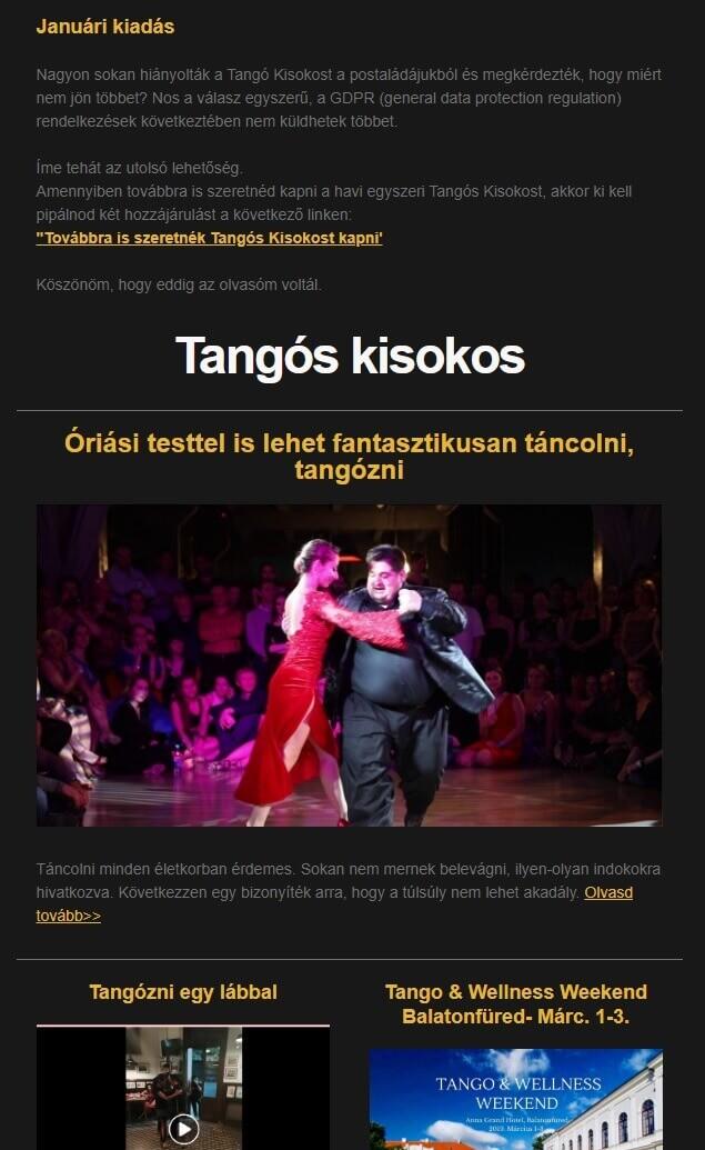 Tangós Kisokos 2019 jan
