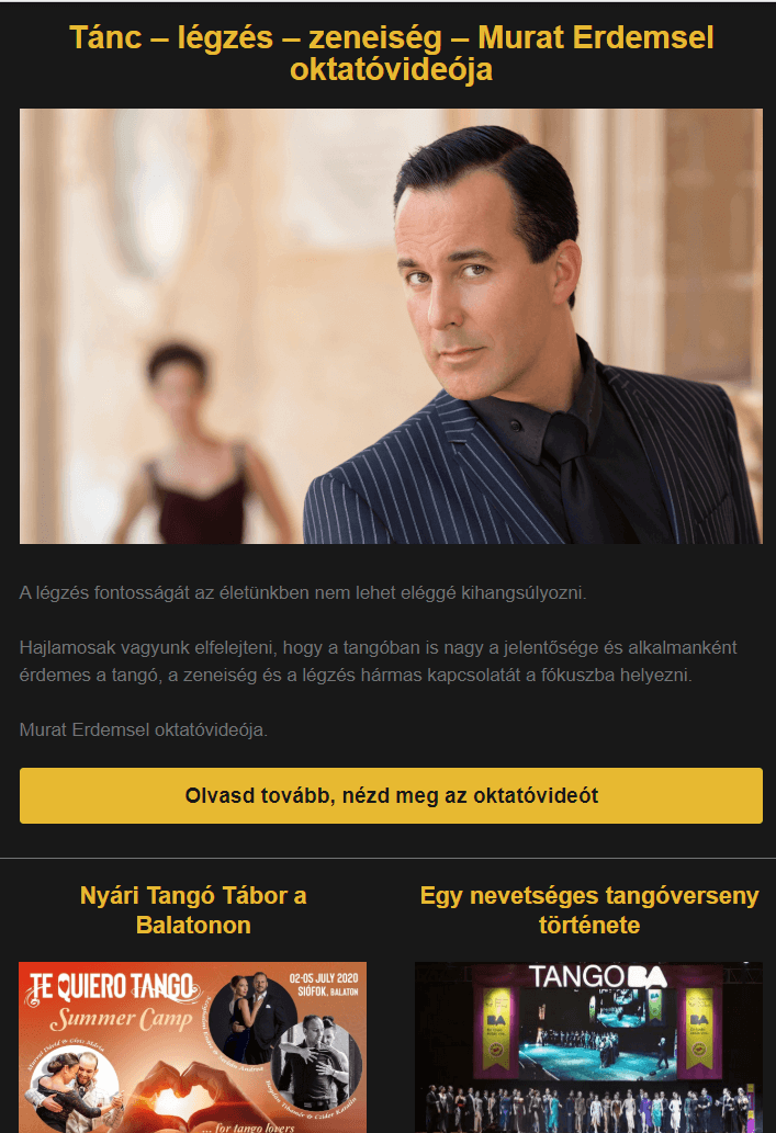 Tangós Kisokos 2020 ápr
