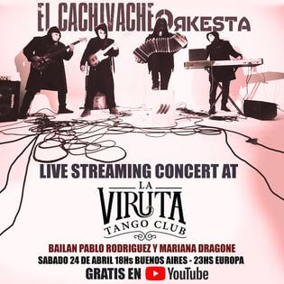 Koncert és Tangó Show a La Virutában, táncol Pablo Rodriguez & Mariana Dragone