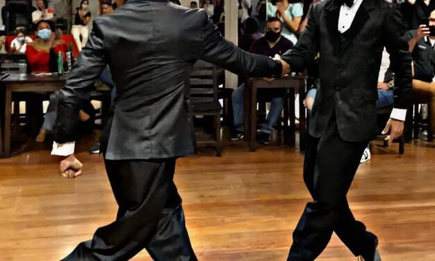 You should see how these two gentlemen dancing with each other!